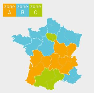 zones academie france