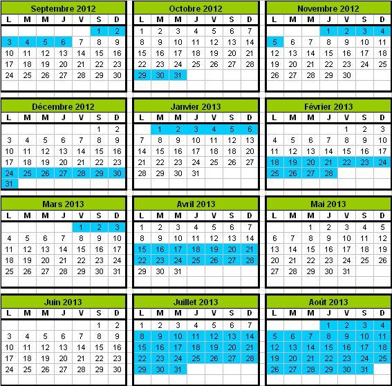 Vacances Scolaires 2012-2013 Corse