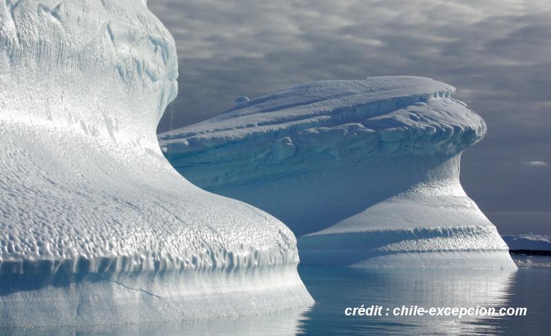 Antarctique - Crédit Chile Excepción
