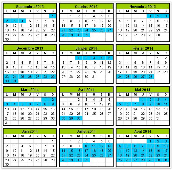 Dates des vacances scolaires 2013-2014 en Corse