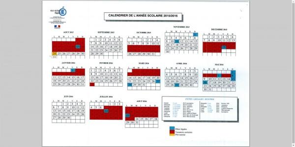Calendrier des vacances scolaires Mayotte 2015-2016