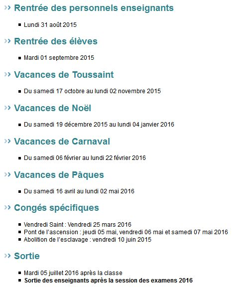 Dates des vacances scolaires 2015 2016 dom tom - Vacances scolaires de noel 2016 ...
